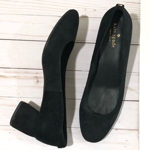 Kate Spade Beverly Block Heel Black Pumps Size 9